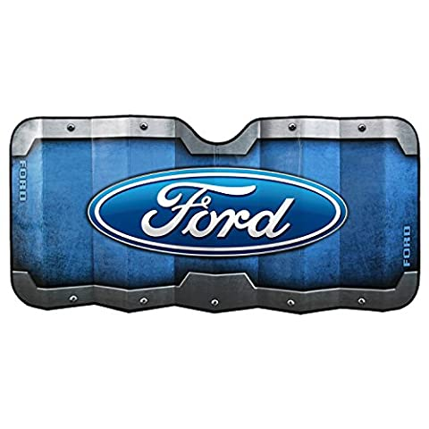 Plasticolor 003673R01 Accordion-Style 'Ford' Windshield Sunshade - Ford Vehicle Accessories