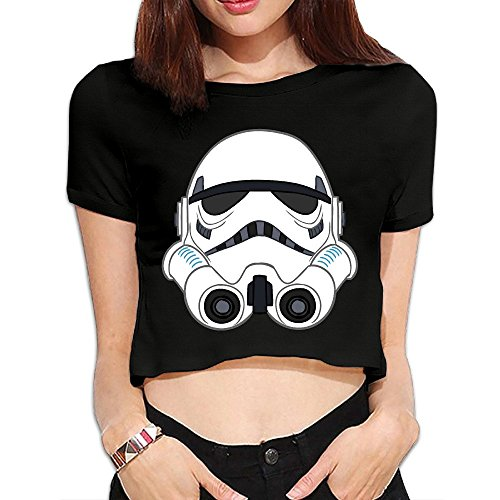 Women's Star Wars Storm Trooper Navel T Shirts -