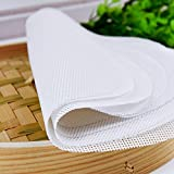 Lucky Gourd Reusable Non-Stick Silicone Steamer Pad Mesh Round Dumplings Mat,Pack of 4 (17.3 Inch/44 CM)