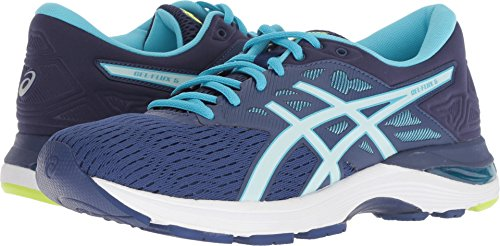 ASICS Womens Gel-Flux 5 Running Shoe, Blue Print/Soothing Sea, Size 10