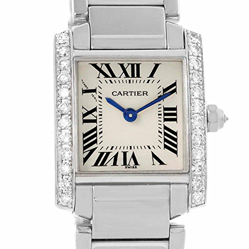 Cartier Tank Francaise quartz womens Watch WE1002S3 (Certified Pre-owned)