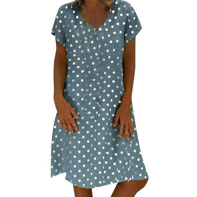 Sunmoot Plus Size Beach Dress for Women Summer Casual Loose ...