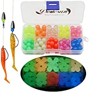 Dovesun Fishing Beads Assorted Beads Fishing Bait Eggs 10 Colors Glow in Dark/Laser/Colorful 0.2in(1000pcs), 0