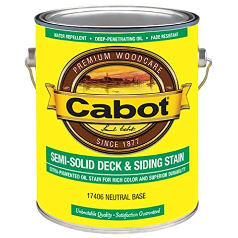 CABOT SAMUEL INC 17406-07 GAL NTRL Semi-Sol Stain - Base Semi Solid Oil