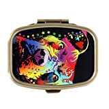 Queen Ali Custom Houghtful Pitbull Luv Is A Pittie Design Decorative Bronze Square Pill Box Medicine Case Holder Pillbox Tablet Gift offers