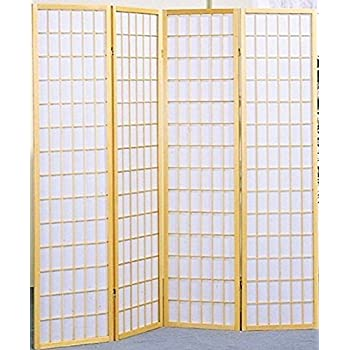 Amazoncom Coaster Home Furnishings Oriental Shoji Panel - 4 panel room divider
