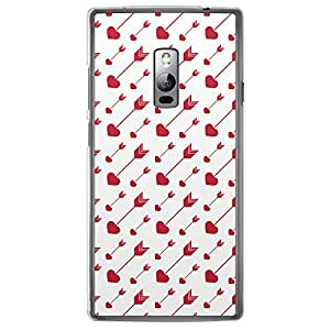 Loud Universe OnePlus 2 Love Valentine Printing Files Valentine 65 Printed Transparent Edge Case - Red/White