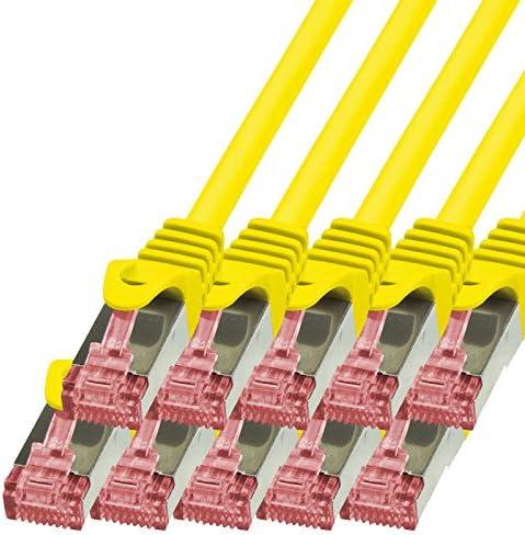 Bigtec 10 Stück 0 15m Netzwerkkabel Patchkabel Ethernet Lan Dsl Patch Kabel Gigabit Gelb 2x Rj 45 Anschluß Cat6 Doppelt Geschirmt 0 15 Meter Baumarkt