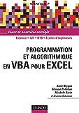 Programmation et algorithmique en VBA pour Excel - Livre+compléments en ligne