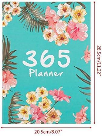 Tischkalender Kalendarien 365 Tages A4 Agenda Zeitplan Notebook Monatsplaner Tagebuch Organizer Zeitschriften (Color : Coffee)