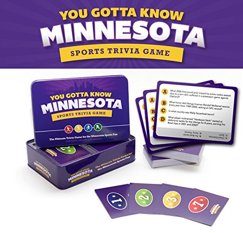 You Gotta Know Minnesota   Sports Trivia Game 125 Cards And 500 Questions