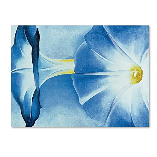 Blue Morning Glories by Georgia O'Keefe, 35x47-Inch Canvas Wall Art