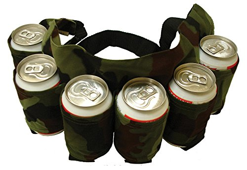 BlueSunshine Beer and Soda Can Holster Belt, holds 6 Cans , Perfect for Parties, Picnics, Camping, Hiking and Gift-Giving (Camouflage) - Redneck Beer