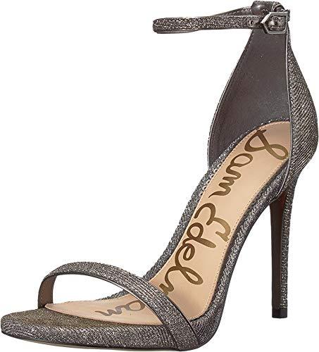 Gold Mesh Buckle - Sam Edelman Women's Ariella Strappy Sandal Heel Silver/Gold Leopard Glitz Mesh Leopard Glitz Mesh 9 M US