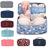 Orpio Waterproof Travel Divided Underwear Pouch Makeup Toiletry Cosmetic Organizers Women bag, Multi