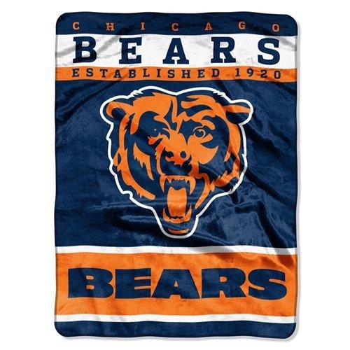 Chicago Bears 60''x80'' Royal Plush Raschel Throw Blanket - 12th Man Design