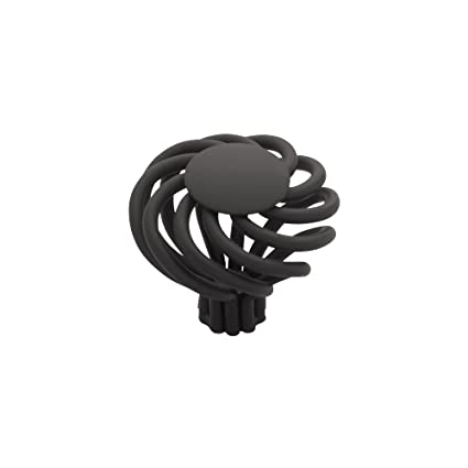 Liberty PN9010-FB-C 40mm Large Wire Swirl Kitchen Cabinet Hardware Knob with Flat Top, Flat Black - Cabinet And Furniture Knobs - Amazon.com