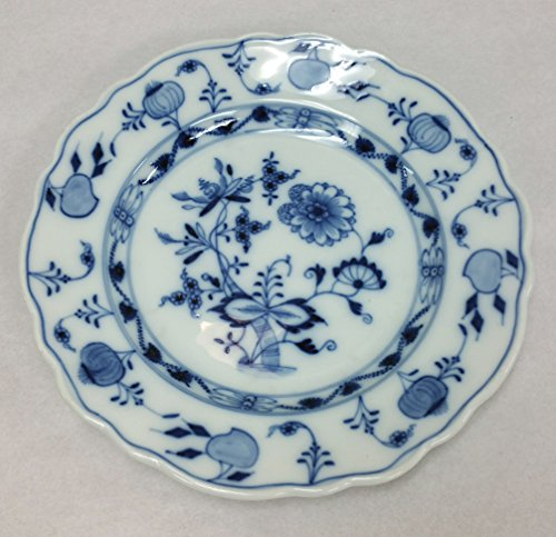 Meissen Carl Teichert Blue Onion Bread/Dessert Plate, 6.75 Inch Diameter