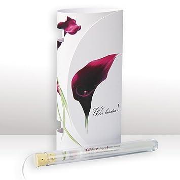 Einladungskarte Im Reagenzglas The Beauty Zur Hochzeit