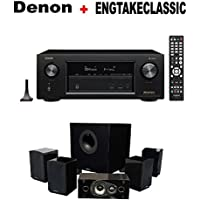 Denon AVR-X2400H 7.2 Channel Full 4K Ultra HD AV Receiver with Wi-Fi, Dolby Atmos, DTS:X, and HEOS + Energy 5.1 Take Classic Home Entertainment System (Set of Six, Black) Bundle