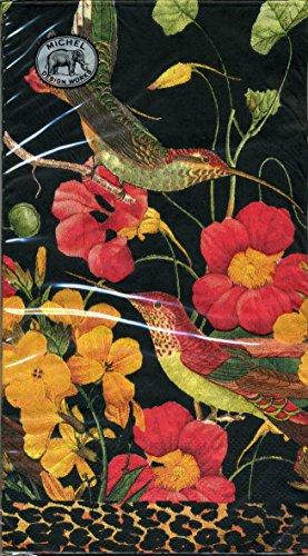 15-Count 3-Ply Paper Hostess Napkins, Flora Exotica ()