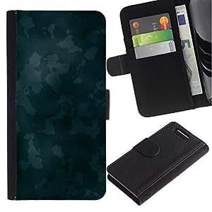 JackGot ( Struttura blu Camoo ) Sony Xperia Z3 Compact / Z3 Mini (Not Z3) la tarjeta de Crédito Slots PU Funda de cuero Monedero caso cubierta de piel