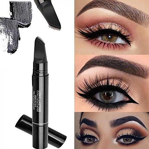 Barhalk Double Head Eye Makeup Tool Waterproof Long Lasting Express Mascara New Volumizing Long Curling Eye Lashes Paradise,Depth and Glamour Effortlessly,Blackest Black (Black)