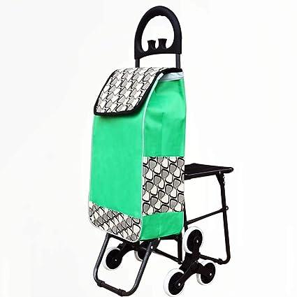 XAJGW Carrito de Compras Plegable y 6 Ruedas y supermercado Carro de Escalada y diseño Impermeable