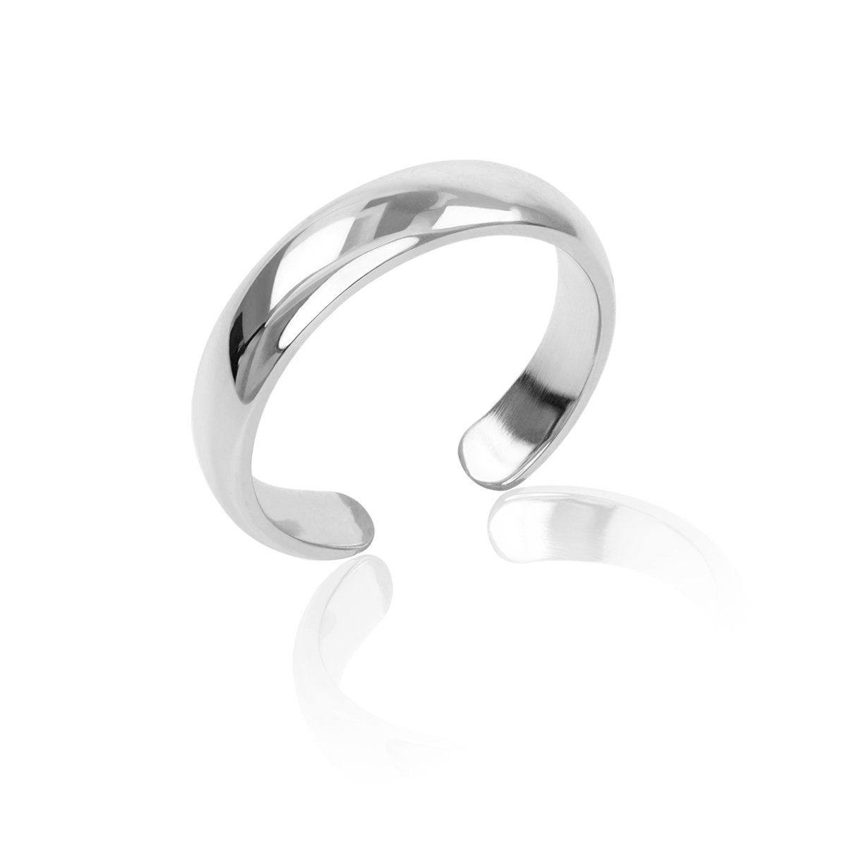 Honolulu Jewelry Company Sterling Silver Band Toe Ring (4mm)