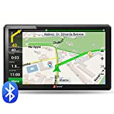 junsun Car GPS 7-Inch Bluetooth Navigation 8GB 256MB System North America free map update