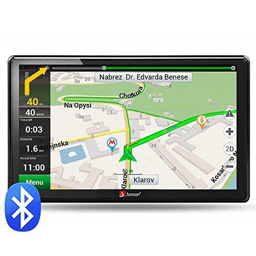 junsun Car GPS 7-Inch Bluetooth Navigation 8GB 256MB System North America free map update