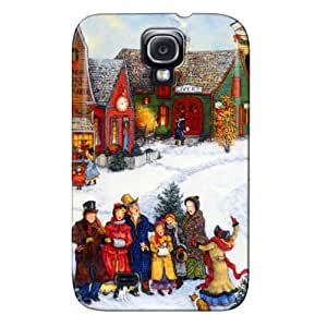 Drop Resistant TPU For Sumsang Galaxy S4 White Christmas Joy Christmas Joy Protective Hard Case