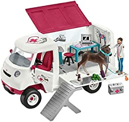 Schleich 42370 - Kit - Vétérinaire Mobile avec Poulain Hanovrien