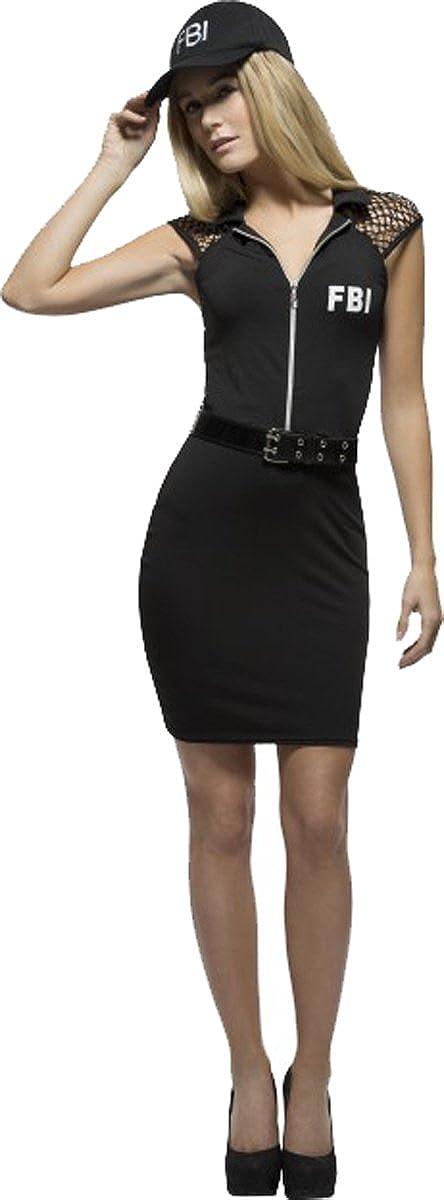 Ladies Fancy Fiebre FBI investigación Sexy Disfraz Negro lápiz ...