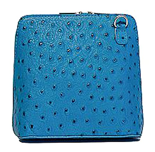 G G Turquoise amp; For Bag Pelletteria Woman Cross Leather 7Rzwzq