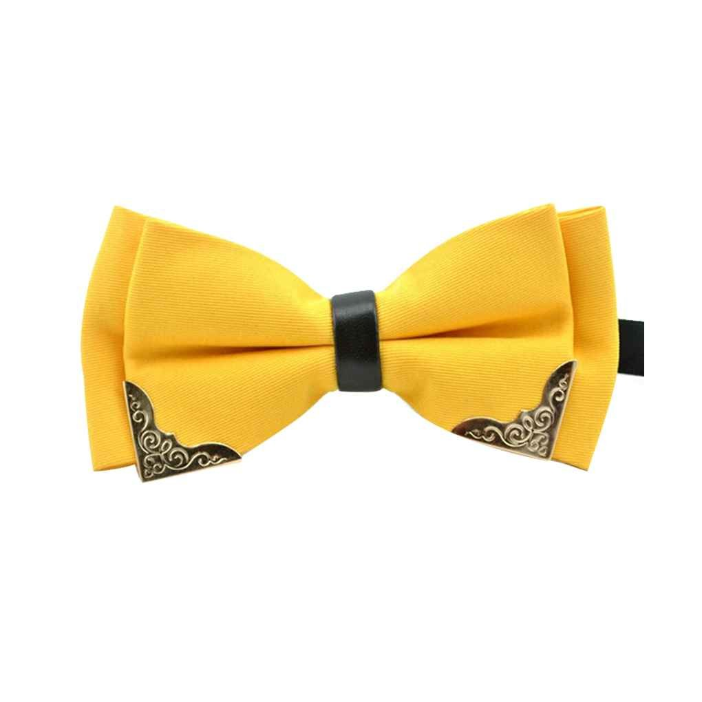 Men Formal Metal Bow Tie Fashion Gentleman Wedding Party Bowties Adjustable Bow Tie Knot Male Polyester Bowtie irene inevent