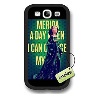 Disney Brave Princess Merida Frosted Phone Case & Cover for Samsung Galaxy S3(i9300) - Black