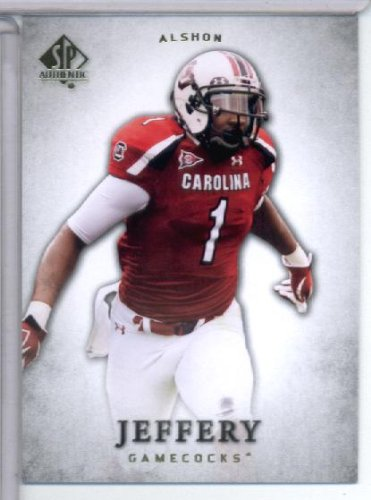 South Carolina Gamecocks Collectibles (2012 Upper Deck SP Authentic # 5 Alshon Jeffery RC - South Carolina Gamecocks / Chicago Bears (RC - Rookie Card) NFL Football Trading Card)