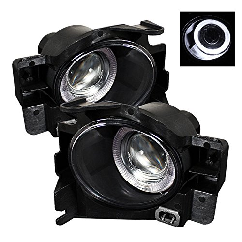 (For 08-13 Nissan Altima 2DR Coupe LED Halo Projector Bumper Driving Fog Light W/Switch)