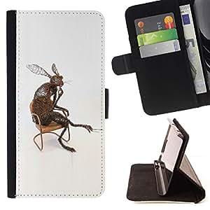 Momo Phone Case / Flip Funda de Cuero Case Cover - Conejo Orejas Largas Naturaleza moderna del arte del amor - Samsung Galaxy Core Prime