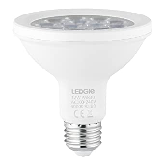 ledgle PAR30 Spotlight bombillas LED Bombillas bajo consumo bombilla, 12 W, no regulable,
