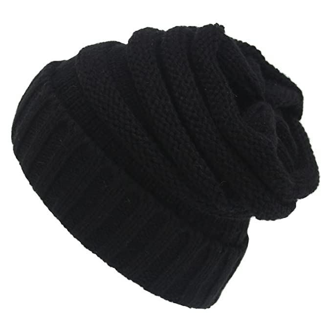 b46e339ef98654 Image Unavailable. Image not available for. Color: GLBUY Women Men Knitted  Beanies Winter Cap Hat Trendy Warm ...