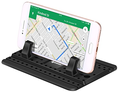IPOW Car Pad with Sticky Gel Points 3rd Generation Universal Silicon Mat for Various Dashboards,Phone Mount Holder Compatible with iPhone X 8 8P 7 7P 6S 6 5S,Galaxy Note8 S9 S8 S7 S6 S5 (My Ipod Touch Wont Turn On At All)