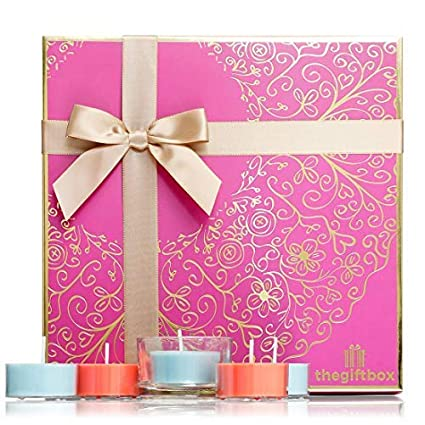 Scented Candle Gift Set With 21 Candles Plus Holder A Large For