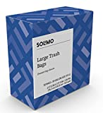 Amazon Brand - Solimo Multipurpose Drawstring Trash Bags, Unscented, 30 Gallon, 50 Count