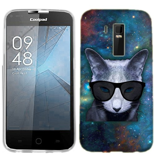 Coolpad Rogue Case, Galaxy Cat Cover for Coolpad Rogue Phone ()