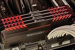 Corsair Vengeance 16GB (2x8GB) DDR4 3000 (PC4-24000) C15 for DDR4 Systems, Red LED (CMU16GX4M2C3000C15R)