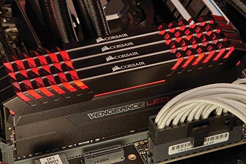 Corsair Vengeance 16GB (2x8GB) DDR4 3000 (PC4-24000) C15 for DDR4 Systems, Red LED (CMU16GX4M2C3000C15R) by Corsair (Image #4)