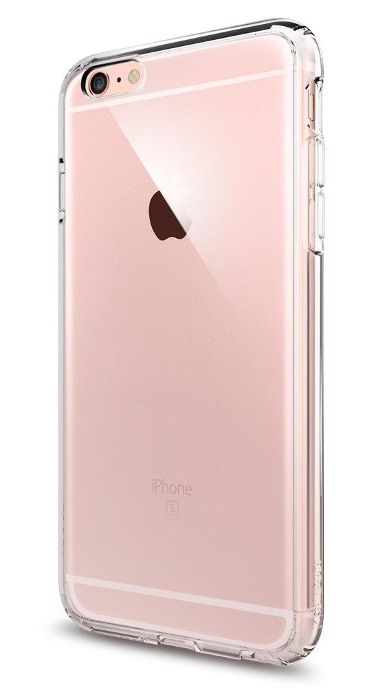 iPhone 6s Plus Case, Spigen [Ultra Hybrid] AIR CUSHION [Crystal Clear] Clear back panel + TPU bumper for iPhone 6 Plus (2014) / 6s Plus (2015) - Crystal Clear (SGP11644)