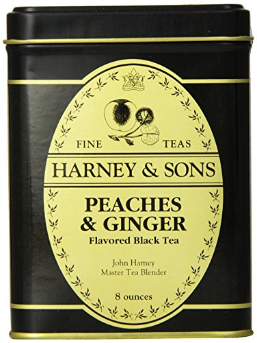 Harney & Sons Loose Leaf Black Tea, Peaches & Ginger, 8 - Black Tea Peach Ginger
